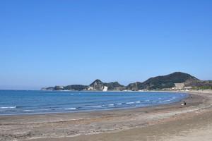 ゆるやかに弧を描く3Kmの砂浜が続く岩井海岸
